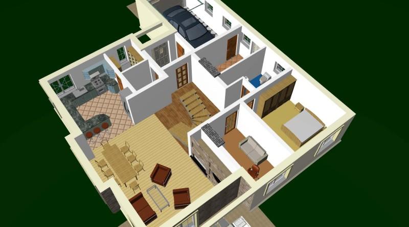projekt domu - animacja